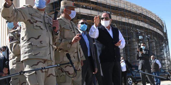 السيد الرئيس عبد الفتاح السيسي يتفقد العاصمة الادارية الجديدة